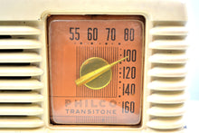 Load image into Gallery viewer, Art Deco Ivory Bakelite Vintage 1949 Philco Transitone 49-500 AM Radio Popular Design Back In Its Day! - [product_type} - Philco - Retro Radio Farm