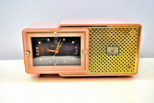 Load image into Gallery viewer, SOLD! - May 28, 2019 - Fifth Avenue Pink 1957 Bulova Model 120 Tube AM Clock Radio Sounds Mah-valous! - [product_type} - Bulova - Retro Radio Farm