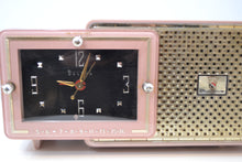 Load image into Gallery viewer, Fifth Avenue Pink 1957 Bulova Model 120 Tube AM Clock Radio Sounds Mah-valous! - [product_type} - Bulova - Retro Radio Farm