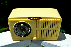 SOLD! - Dec 15, 2018 - BLUETOOTH MP3 Ready - Ivory Vanilla 1948-50 General Electric Model 65 Retro AM Clock Radio Works Great! - [product_type} - General Electric - Retro Radio Farm