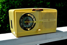 Load image into Gallery viewer, SOLD! - Dec 15, 2018 - BLUETOOTH MP3 Ready - Ivory Vanilla 1948-50 General Electric Model 65 Retro AM Clock Radio Works Great! - [product_type} - General Electric - Retro Radio Farm