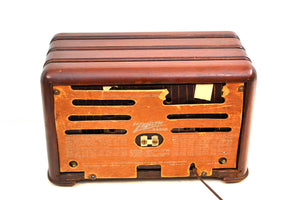 Mahogany Brown Wood 1941 Zenith Model 6-D-525 AM Vacuum Tube Radio Super Performer!