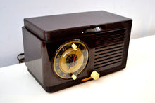 Load image into Gallery viewer, SOLD! - Oct 13, 2019 - Art Deco 1952 General Electric Model 60 AM Brown Bakelite Tube Clock Radio Totally Restored! - [product_type} - General Electric - Retro Radio Farm