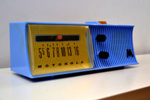 Load image into Gallery viewer, Azure Blue Mid Century Retro 1957 Motorola 57H Tube AM Radio - [product_type} - Motorola - Retro Radio Farm