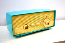 Load image into Gallery viewer, Seafoam Delight Turquoise and White 1958 Admiral Model 5D4 Tube AM Radio Absolutely Beauteous! - [product_type} - Admiral - Retro Radio Farm
