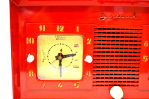 SOLD! - Mar 4, 2020 - Fire Engine Red 1949 Jewel Model 940 Red Bakelite Tube Radio Totally Restored Excellent Condition! - [product_type} - Jewel - Retro Radio Farm