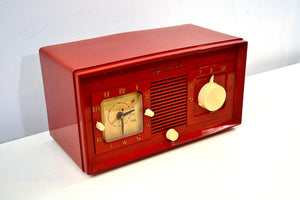 Fire Engine Red 1949 Jewel Model 940 Red Bakelite Tube Radio Totally Restored Excellent Condition! - [product_type} - Jewel - Retro Radio Farm