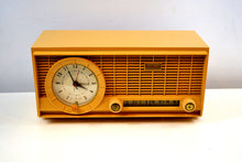 Load image into Gallery viewer, Harvest Gold 1961 Travler Model 63C301 AM Tube Radio Rare Color and Time Warp Condition! - [product_type} - Travler - Retro Radio Farm