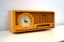 Load image into Gallery viewer, SOLD! - Jan 4, 2020 - Harvest Gold 1961 Travler Model 63C301 AM Tube Radio Rare Color and Time Warp Condition! - [product_type} - Travler - Retro Radio Farm