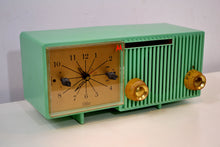 Load image into Gallery viewer, Beautiful Sea Green Retro 1956 Motorola 56CS4A Tube AM Clock Retro Radio - [product_type} - Motorola - Retro Radio Farm