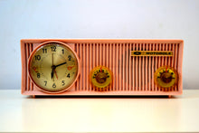 Load image into Gallery viewer, Pink Velvet 1957 Motorola 57CS Port Hole Tube AM Clock Radio Totally Restored! - [product_type} - Motorola - Retro Radio Farm