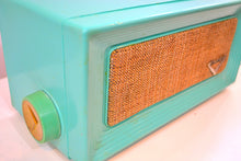 Load image into Gallery viewer, Robins Egg Blue Retro Jetsons 1956 Dumont Model 1120 Tube AM Radio Totally Restored! - [product_type} - Dumont - Retro Radio Farm