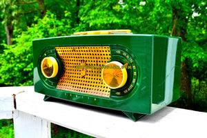 SOLD! - Sept 4, 2018 - BLUETOOTH MP3 UPGRADE ADDED - Candy Apple Green Mid Century Retro Jetsons Vintage 1955 Zenith Model R511F AM Tube Radio Da Bomb! - [product_type} - Zenith - Retro Radio Farm