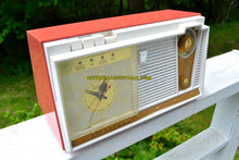 Load image into Gallery viewer, Coral Pink 1959 Fleetwood Model 5018 AM Tube Clock Radio - [product_type} - Fleetwood - Retro Radio Farm