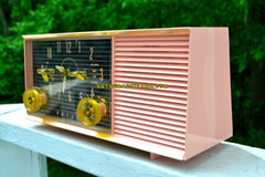 CHIFFON PINK Mid Century Retro 1959 Philco Model G753-124 Tube AM Clock Radio Totally Restored and Sounds Great!