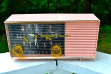 Load image into Gallery viewer, Chiffon Pink Mid Century Retro 1959 Philco Model G753-124 Tube AM Clock Radio - [product_type} - Philco - Retro Radio Farm