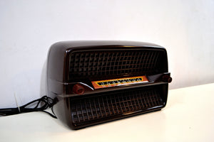 SOLD! - Sept 23, 2019 - Walnut Bakelite Vintage 1949 Philco Model 49-505 AM Radio Flawless and Sounds Amazing!