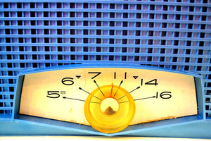 Tyrol Blue Metallic Mid Century 1961 Philco Model K821-124 Tube AM Radio Sounds Great Real Looker!