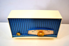 Load image into Gallery viewer, Tyrol Blue Metallic Mid Century 1961 Philco Model K821-124 Tube AM Radio Sounds Great Real Looker!