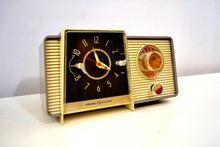 Load image into Gallery viewer, SOLD! - Sept 25, 2019 - Pewter and Ivory 1959 General Electric Model C-405 Tube AM Clock Radio Excellent Original Condition! - [product_type} - General Electric - Retro Radio Farm