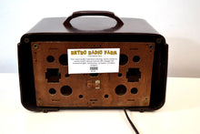 Load image into Gallery viewer, SOLD! - Jan. 19, 2020 - Mahogany Marbled Brown Bakelite 1951 Zenith Model H724Z2 AM Tube Radio Great Player! - [product_type} - Zenith - Retro Radio Farm