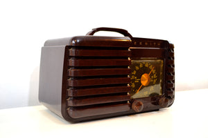 Mahogany Marbled Brown Bakeilte 1951 Zenith Model H724Z2 AM Tube Radio Great Player! - [product_type} - Zenith - Retro Radio Farm