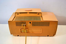 Load image into Gallery viewer, Buff Pink Mid Century 1959 General Electric Model C-4340 Tube AM Clock Radio Totally Restored! - [product_type} - General Electric - Retro Radio Farm