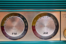 Load image into Gallery viewer, SOLD! - June 28, 2019 - Mariner Teal Vintage 1966 Silvertone 6019 AM/FM Tube Radio Near Mint and Gimmicky Beyond Comparison!
