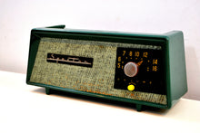 Load image into Gallery viewer, Smitten by Burlap Forest Green Sparton Model 360 AM Tube Radio Totally Restored! - [product_type} - Sparton - Retro Radio Farm