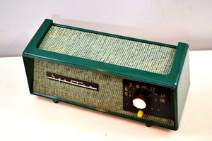 SOLD! - Mar 4, 2020 - Smitten by Burlap Forest Green Sparton Model 360 AM Tube Radio Totally Restored! - [product_type} - Sparton - Retro Radio Farm
