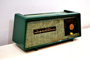 Smitten by Burlap Forest Green Sparton Model 360 AM Tube Radio Totally Restored! - [product_type} - Sparton - Retro Radio Farm