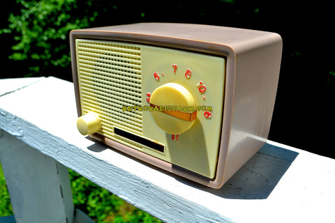 1959 Taupe Midget Alrad Japanese Post War Tube AM Radio! It's Rad!