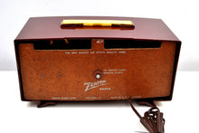 "Load image into Gallery viewer, Maroon 1955 Zenith ""Broadway"" Model R511R AM Tube Radio - Give My Regards! - [product_type} - Zenith - Retro Radio Farm"