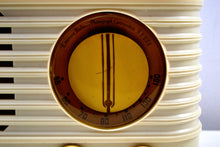 Load image into Gallery viewer, SOLD! - Feb. 7, 2020 - Ivory 1949 Emerson Model 581 Plaskon AM Tube Radio Golden Age Beauty! - [product_type} - Emerson - Retro Radio Farm