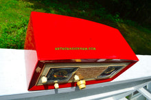 Load image into Gallery viewer, Cardinal Red 1950 Raytheon Model CR-43 Tube AM Clock Radio Excellent Plus Condition and RARE! - [product_type} - Raytheon - Retro Radio Farm