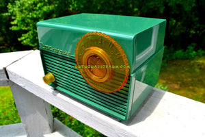SOLD! - Sept 15, 2018 - Leaf Green 1953 Westinghouse H-380T5 AM Tube Radio Sounds Great!
