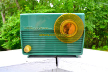 Load image into Gallery viewer, SOLD! - Sept 15, 2018 - Leaf Green 1953 Westinghouse H-380T5 AM Tube Radio Sounds Great!