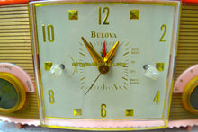 Load image into Gallery viewer, Fifth Ave Pink Vintage Mid Century 1957 Bulova Model 170 Tube AM Clock Radio Simply Fabulous! - [product_type} - Bulova - Retro Radio Farm