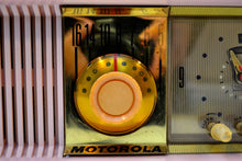Load image into Gallery viewer, SOLD! - Aug. 13, 2019 - Marilyn Pink 1957 Motorola 57CC Tube AM Clock Radio Excellent Condition Sounds Great! - [product_type} - Motorola - Retro Radio Farm