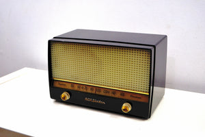 SOLD! - Jan 5, 2020 - Ebony Classic 1954 RCA Victor 4-X-641 Tube Radio Excellent Condition Works Great! - [product_type} - RCA Victor - Retro Radio Farm