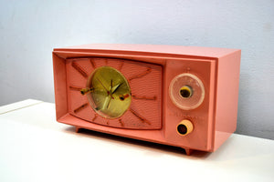 BLUETOOTH MP3 UPGRADED - Rose Pink 1959 Westinghouse Model H545T5A Tube AM Radio - [product_type} - Westinghouse - Retro Radio Farm