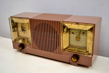 Load image into Gallery viewer, Mauve Tan Mid Century 1952 Automatic Radio Mfg Model 4-A-127 Tube AM Radio Cool Model! - [product_type} - Automatic - Retro Radio Farm