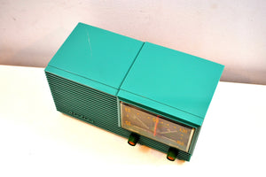 Gumby Green 1950s Airline AM Tube Radio Totally Restored Looks Great! - [product_type} - Airline - Retro Radio Farm