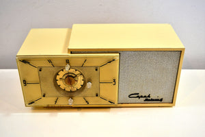 SOLD! - Feb. 22, 2020 - Ivory Cream 1953 Capehart Model T-62 AM Vintage Tube Radio Looks Classy! - [product_type} - Capehart - Retro Radio Farm