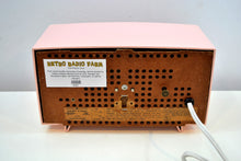 Load image into Gallery viewer, Petal Pink Vintage 1959 General Electric Model C-400A Tube Radio With Rare Pink Clock Face! - [product_type} - General Electric - Retro Radio Farm
