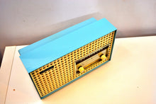 Load image into Gallery viewer, Continental Baby Blue 1960 General Electric Model T165A Musaphonic Tube Radio Clover Grid Grill! - [product_type} - General Electric - Retro Radio Farm