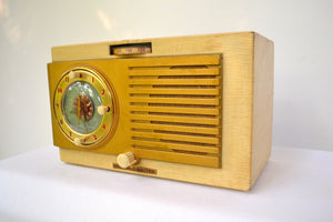 BLUETOOTH MP3 Ready - Blonde 1950 General Electric Model 508 AM Clock Radio Works Great! - [product_type} - General Electric - Retro Radio Farm