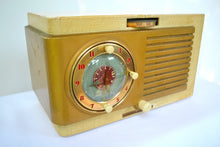 Load image into Gallery viewer, BLUETOOTH MP3 Ready - Blonde 1950 General Electric Model 508 AM Clock Radio Works Great! - [product_type} - General Electric - Retro Radio Farm