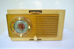 BLUETOOTH MP3 Ready - Blonde 1950 General Electric Model 508 AM Clock Radio Works Great!