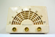 Load image into Gallery viewer, Deco-Licious Ivory 1953 Sentinel Model 344 AM Tube Radio Excellent Condition Sounds Divine! - [product_type} - Sentinel - Retro Radio Farm